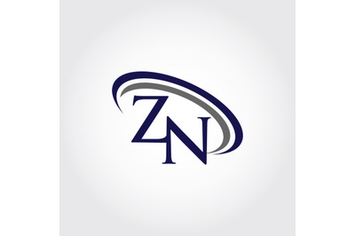 Monogram ZN Logo Design