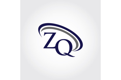 Monogram ZQ Logo Design