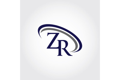 Monogram ZR Logo Design