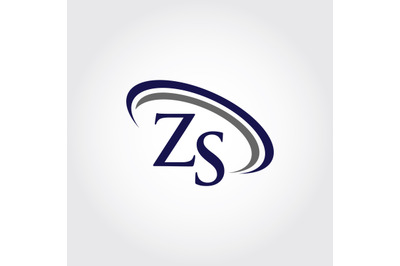 Monogram ZS Logo Design
