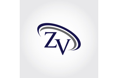 Monogram ZV Logo Design