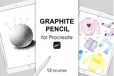 Graphite pencil Procreate brushes