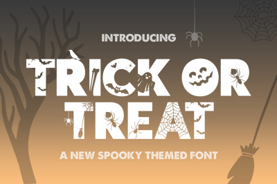 Trick or Treat Silhouette Font