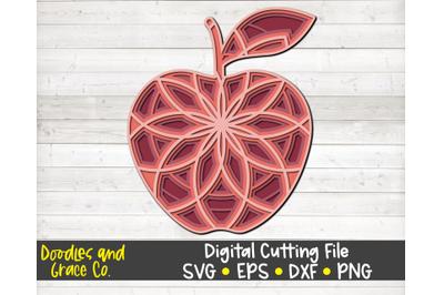 Apple 3D Layered Mandala SVG