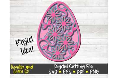 Easter Egg 3D Layered Mandala SVG