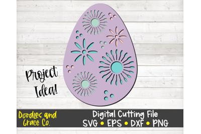 Easter Egg 3D Layered SVG