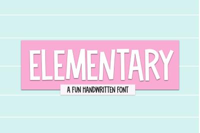 Elementary - Fun Handwritten Font