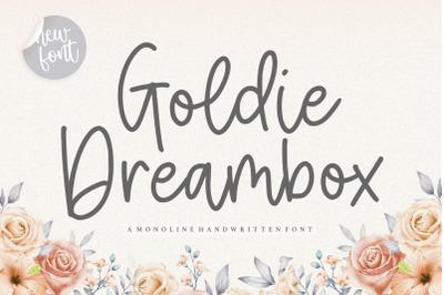 Goldie Dreambox Monoline Handwritten Font