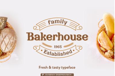 Bakerhouse - vintage font + bonus