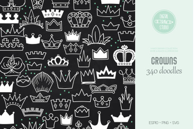 Crowns White | Princess Tiara | King, Queen, Royal Illustrations