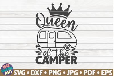 Queen of the camper SVG   Camping quote