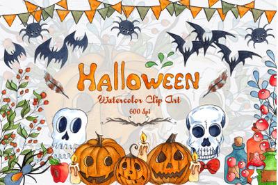 Halloween Watercolor Clipart