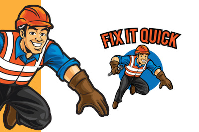 Fix it Quick Logo Template