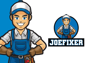 Joe Fixer Logo Template