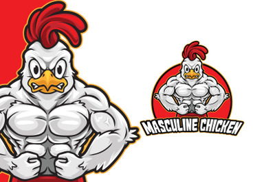 Masculine Chicken Logo Template