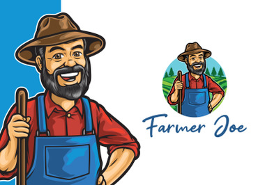 Old Farmer Joe Logo Template