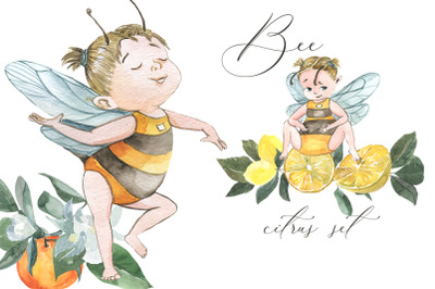 Bee. Citrus set