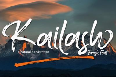Kailash - Brush Font