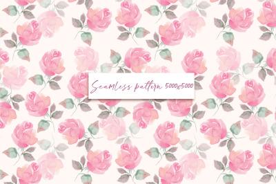 Roses. Seamless pattern 3