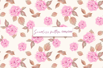 Roses. Seamless pattern 4