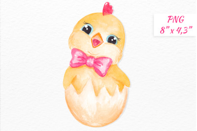 Watercolor Chicken clipart Easter Yellow Chick clipart