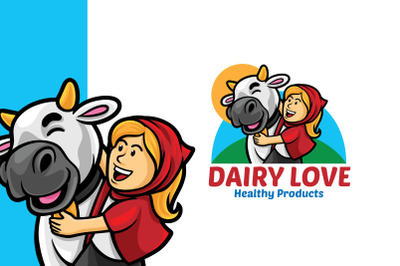 Dairy Love Logo Template