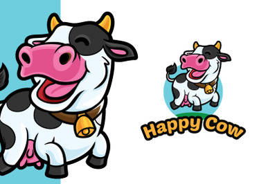 Happy Cow Logo Template