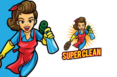 Super Clean Mom Logo Template