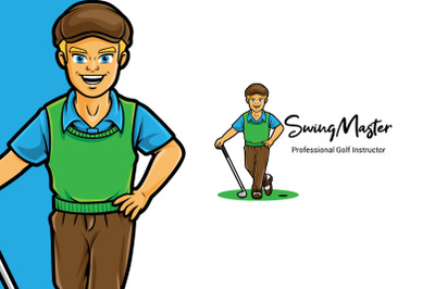 Swing Master Golf Logo Template