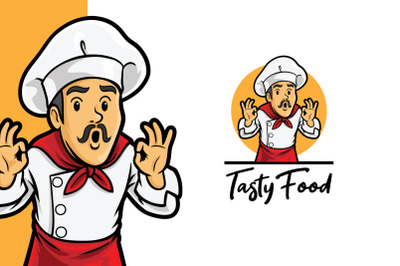 Tasty Food Chef Logo Template