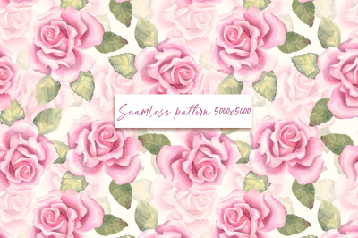 Roses. Seamless pattern 1