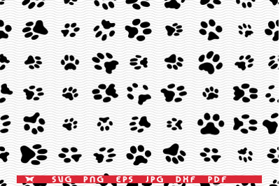 SVG Cats Dogs, Seamless pattern digital clipart