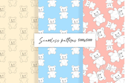 Tedy Bear. Set of patterns