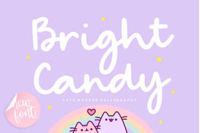Bright Candy Cute Modern Calligraphy Font