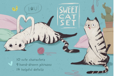 Sweet cat set