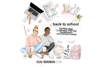 Back to school clipart School planner clipart, Fashion clipart Planner