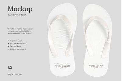 Flip Flops Mockup, Sandals Mockup, Beach Slipper Mockup, Pair of Flip