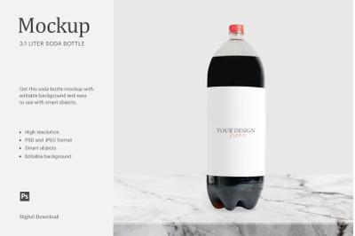 3 Liter Soda Bottle Mockup, 3 Liter Soda Label, Bottle Soda Mockup