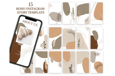 Boho Instagram story template
