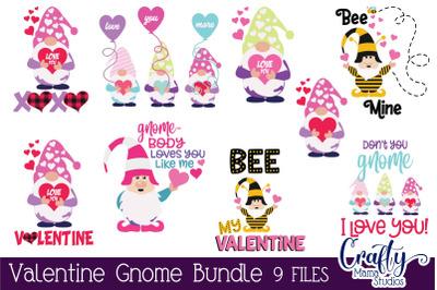 Valentine Gnome Bundle Svg, Gnome Cut Files