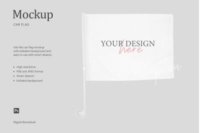Car Flag Mockup, Mockup Flag, Sublimation Car Flag Mockup