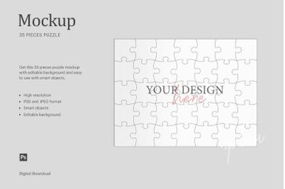 35 Pieces Puzzle Mockup, Sublimation Mockup Puzzle, Jigsaw Mockup