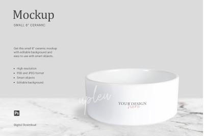 Small Ceramic Mockup, Ceramic Bowl Mockup, Ceramic Pet Bowl