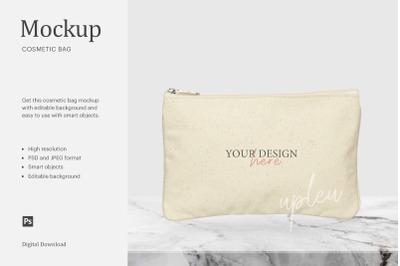 Cosmetic Bag Mockup, Canvas Bag Mockup