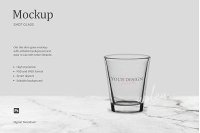 Shot Glass Mockup, Personalized Shot Glass Mockup