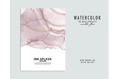 Marble watercolor liquid dark purple background, violet abstract patte