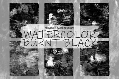 """Textures """"Watercolor Burnt Black"""""""