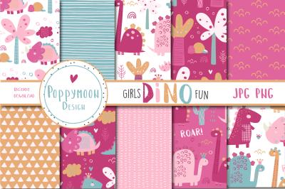 Girls Dino fun paper