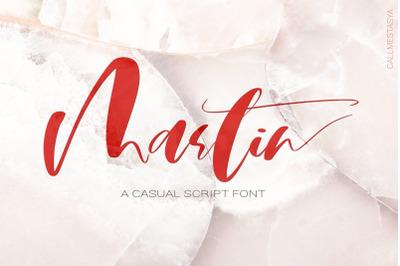 Martin Script Font