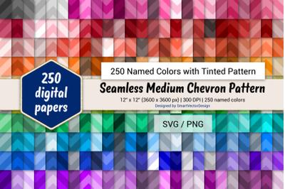 Seamless Medium Chevron Digital Paper - 250 Colors Tinted